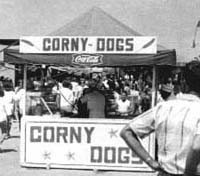 The perennial favorite Fair fare—the Corny Dog. (1960's)